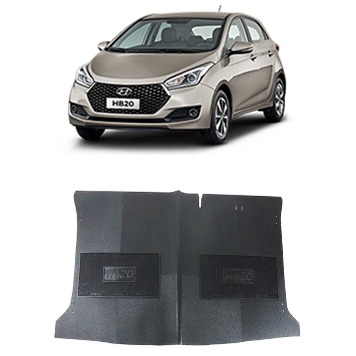 Tapete do Porta Malas em PVC Hyundai HB20 Hatch até 2019 Tapeplass