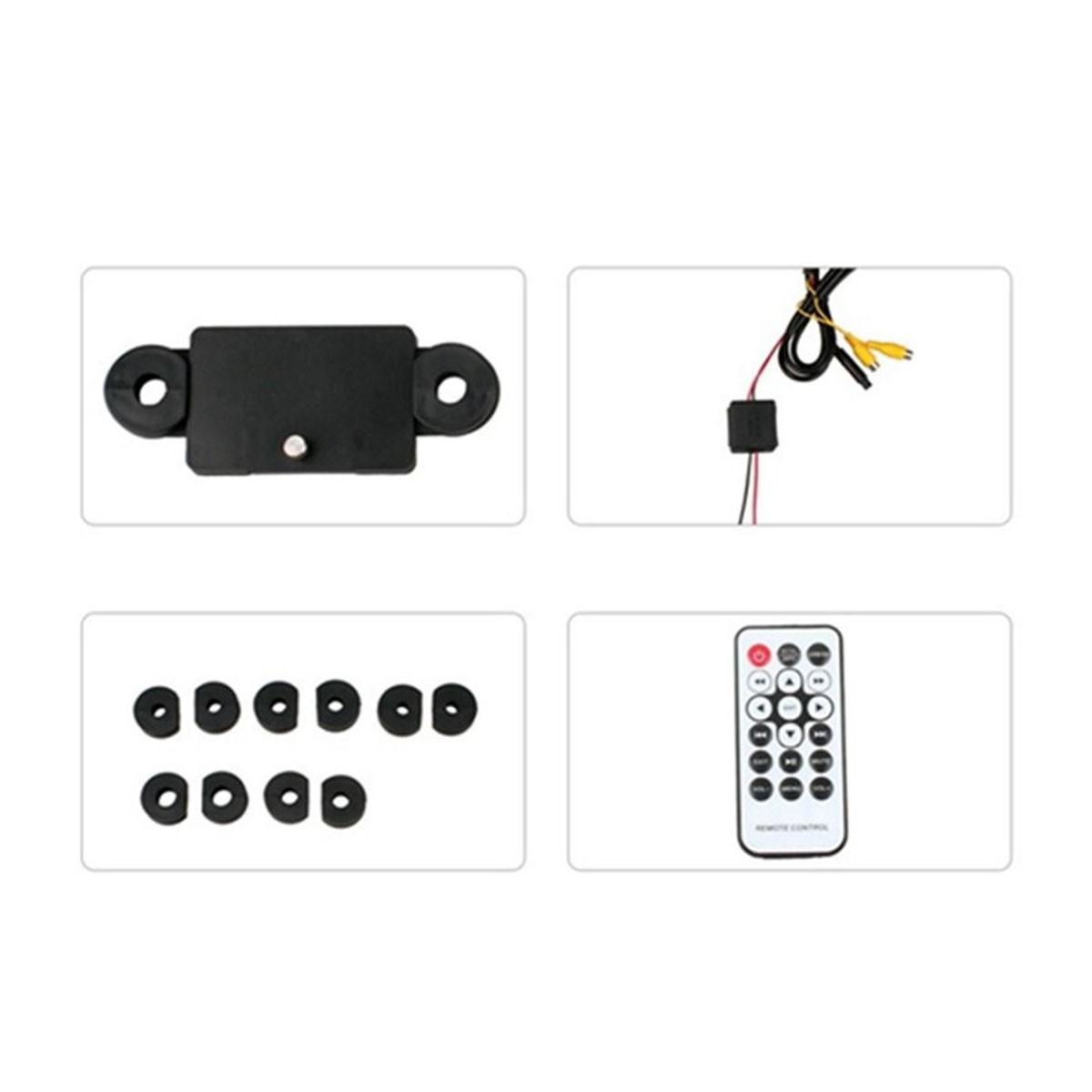 """Tela Encosto Cabeça Acoplável 8"""" Full HD Espelhamento Android e IOS USB SD Card Mp5"""