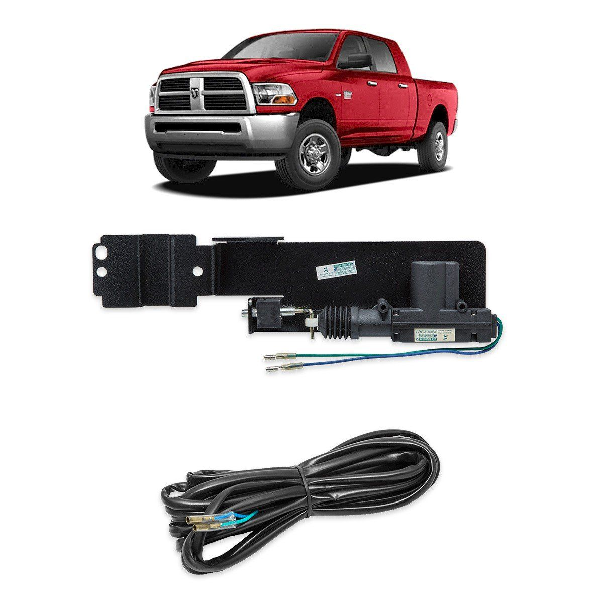 Tranca Tampa Trava Elétrica Caçamba Dodge Ram 1500