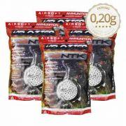 Bb Airsoft 0,2g Velozter Branca 4 Pacotes De 1kg 20000 Unid