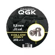 Chumbinho Qgk Hollow Point 5,5mm - 250 Unidades