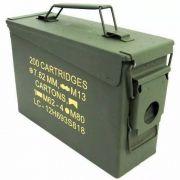 Caixa Munição Militar Original Guerra Airsoft Bbs Nautika