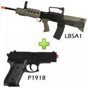 Rifle Fuzil L85a1 Airsoft Spring Vigor + Pistola P1918 6mm