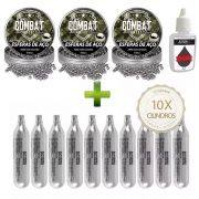Kit 10 Cilindros Co2 + 900 Esferas + Silicone