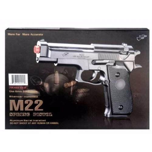 Pistola Airsoft Spring Beretta M22 - Double Eagle