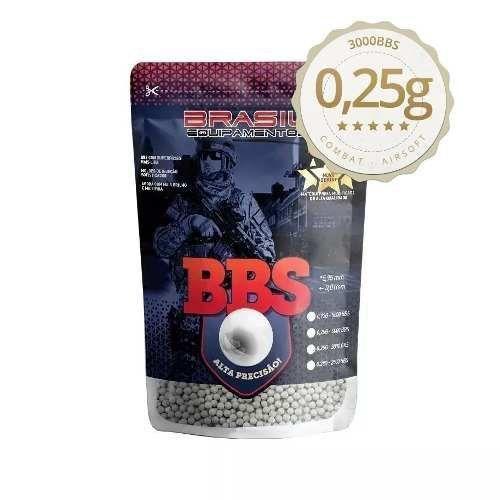 Bbs Airsoft 6mm 0.25g Brasil Equipamentos King Com 3000 Un