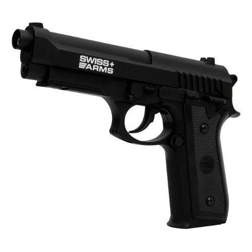 Pistola De Pressão A Gás Co2 Sa P92 4.5mm Swiss Arms