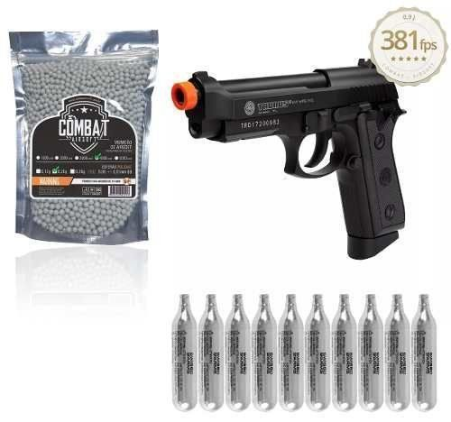 Kit Pistola Airsoft Cybergun Pt99 Full Metal Auto Co2 Gbb Full