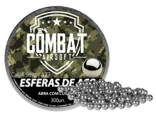 Esfera De Aço Combat Airsoft 4,5mm 300 Unidades