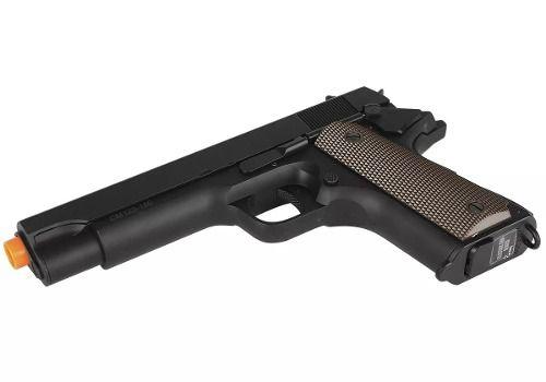 Pistola Elétrica Cyma Cm123 Full Metal Colt 1911 Bivolt