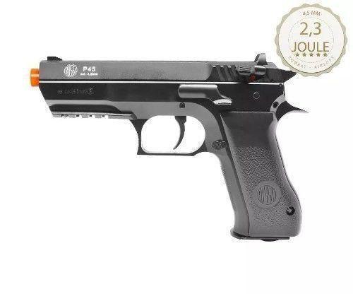 Pistola De Pressão Rossi Pcp P45 4.5mm - Kwc + Mag Extra