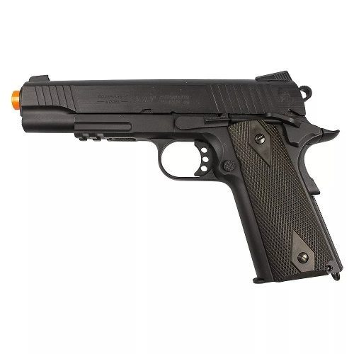 Pistola Pressao Co2 Colt 1911 Rail Gun Blowback