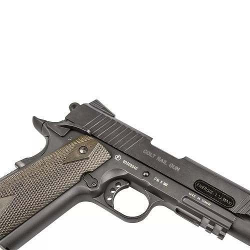 Pistola Pressao Co2 Colt 1911 Rail Gun Blowback - Combat Airsoft