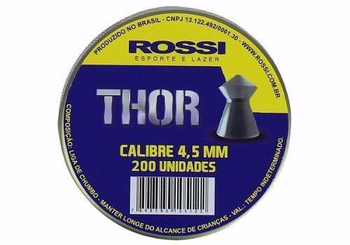 Chumbinho Rossi Thor 4,5mm - 200 Unidades