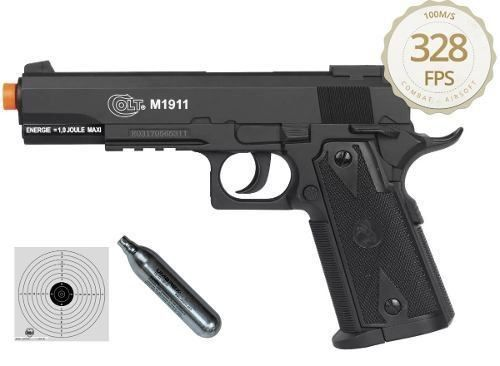 Airsoft Pistola Co2 Colt 1911 Slide Fixo 6mm - Cybergun