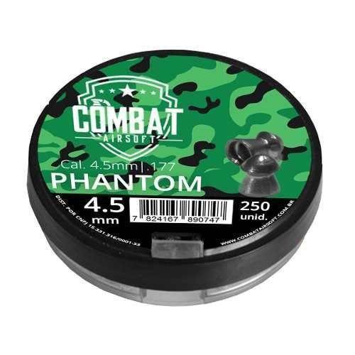 Chumbinho Combat Phanton 4.5mm 250 Unidades