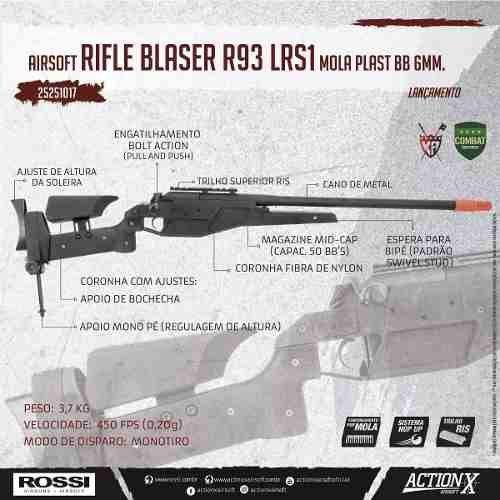 Airsoft Sniper Blaser R93 Lrs1 Mola Bb 6mm King Arms