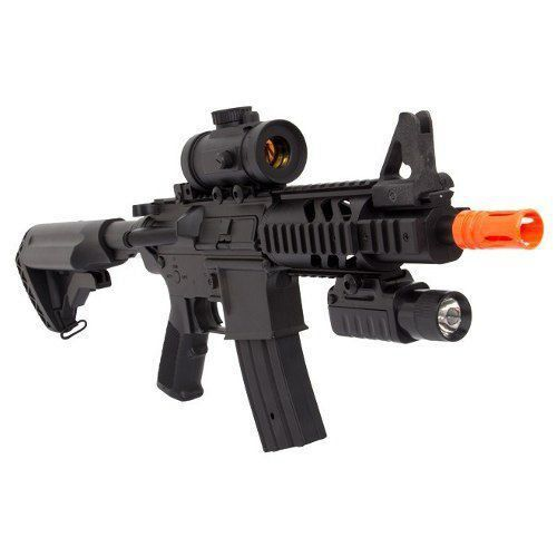 Rifle De Airsoft Aeg M4 M805 A2 + Lanterna + Red Dot Fake