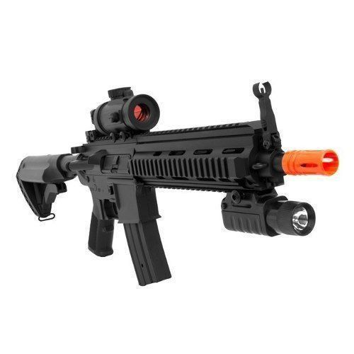 Rifle De Airsoft Aeg M4 M804 A2 + Lanterna + Red Dot Fake