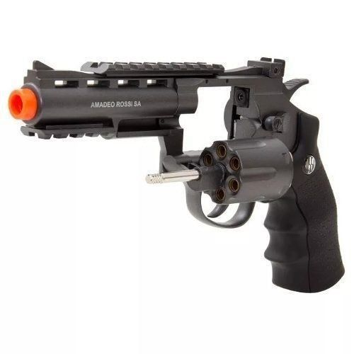 Revolver Airsoft Rossi Co2 Wg 701 4 Full Metal Preto 6mm