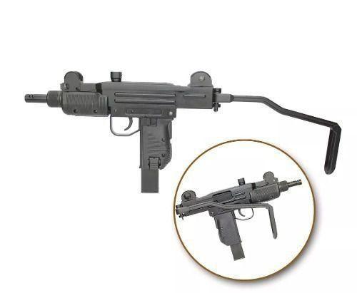 Rifle Submetralhadora Pressão Kwc Gbb Co2 Mini Uzi Black 4.5mm