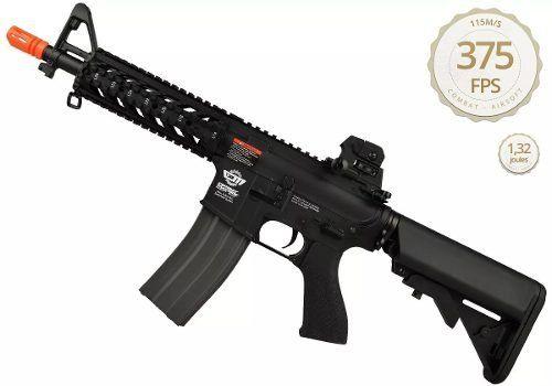 Rifle Airsoft Elétrico Aeg G&g Cm16 Raider-L Bivolt