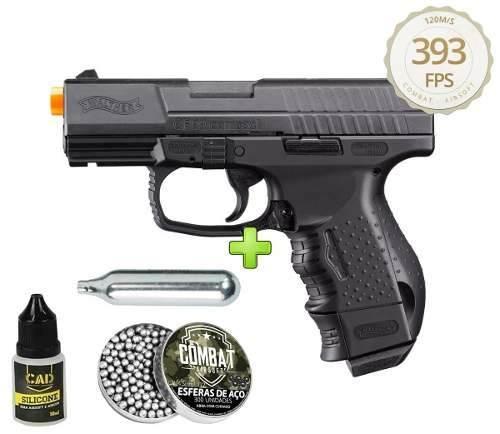 Pistola 4.5mm Co2 Umarex Walther Cp99 Slide Metal Blowback