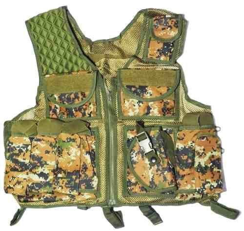 Colete Tatico Modular Airsoft Paintball Marpat Woodland