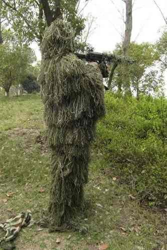 Traje Ghillie Folha Camuflagem 3d Sniper Fotografia Airsoft  - Combat Airsoft