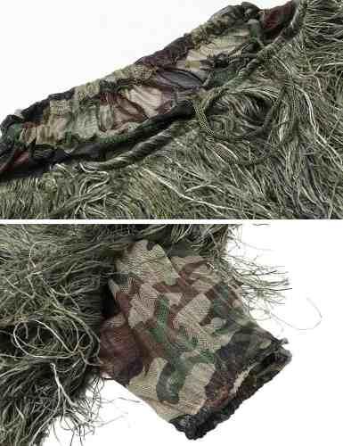 Traje Ghillie Folha Camuflagem 3d Sniper Fotografia Airsoft