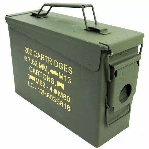 Caixa Munição Militar Original Guerra Airsoft Bbs Ammo Box Nautika