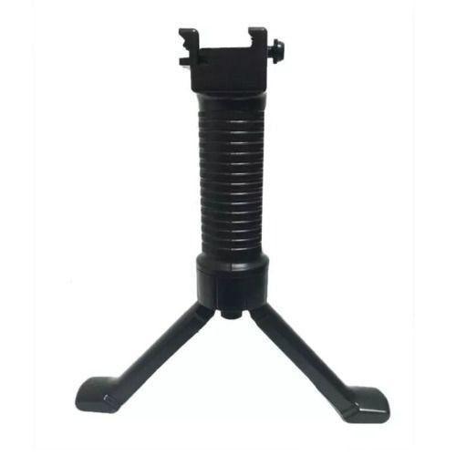 Front Grip Tático Com Bipé Integrado 20mm Airsoft, Paintball