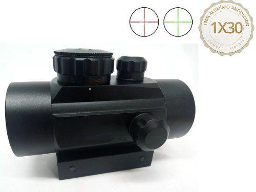 Red Dot Reddot Mira Combat Airsoft 1x30 Para 11mm 20mm