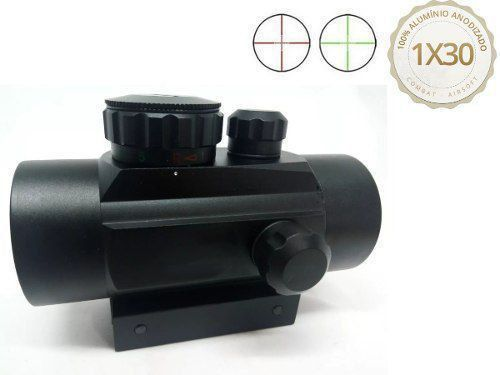 Red Dot Reddot Mira Combat Airsoft 1x30 Para 11mm 20mm