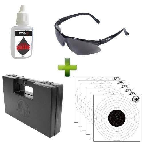 Combo Oculos + Silicone + 6 Alvos + Maleta