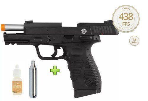 Pistola Airsoft CO2 Cybergun PT24/7 G2 Blowback Slide Metal 6mm