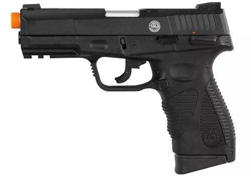 Pistola Airsoft Co2 24/7 G2 Blow Back Preta Slide-Metal 6mm