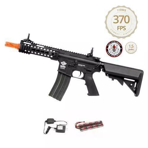Rifle Airsoft M4a1 G&g Cm16 300 Bot. 6mm 370 Fps