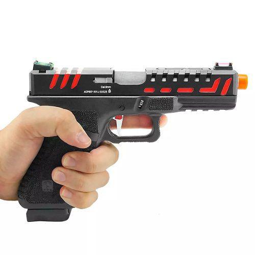 Pistola Airsoft Gás Gbb Co2 Scorpion 6mm - Aps Conception
