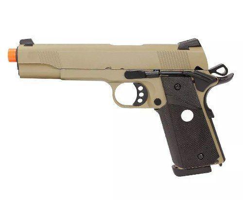 Pistola Airsoft GBB M1911 R27 Full Metal Bk/Tan Blowback 6mm