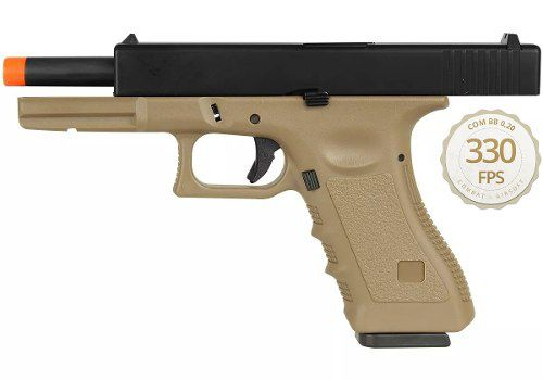 Pistola Airsoft Gbb Com Blowback Glock R17 Tan - Army Armament