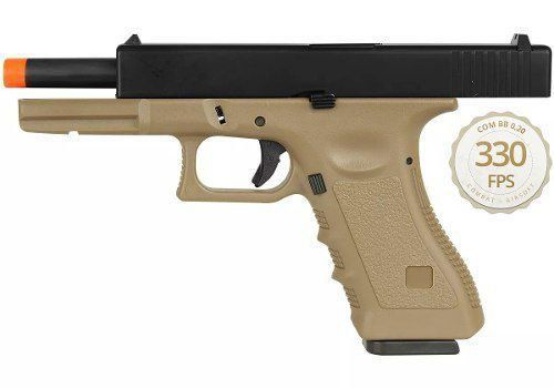 Pistola Airsoft Gbb Com Blowback Glock R17-B Tan - Army Armament