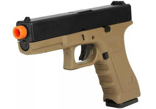 Pistola Airsoft Gbb Com Blowback Glock R17 Tan - Army Armament