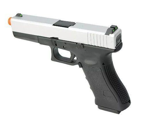 Pistola Airsoft Gbb Glock R17 Silver Blowback Army Armament 6,0mm