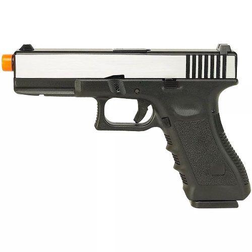 Pistola Airsfot Glock R17 Gbb 6mm Army Armament Black/Silver