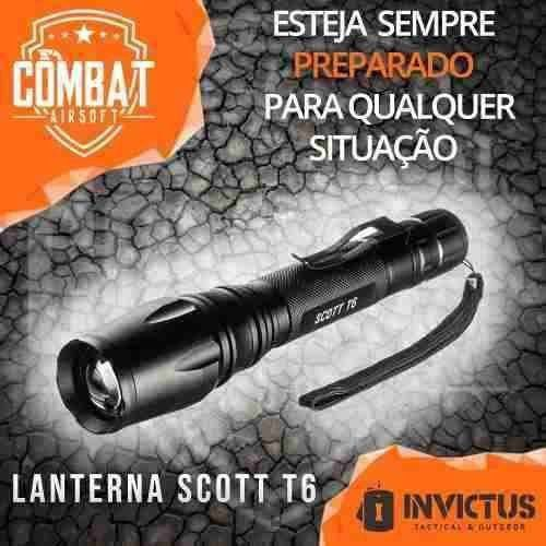Lanterna Tática Invictus Scott T6 - 280 Lumens