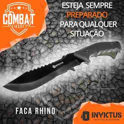 Faca Rhino Invictus Tatica Militar