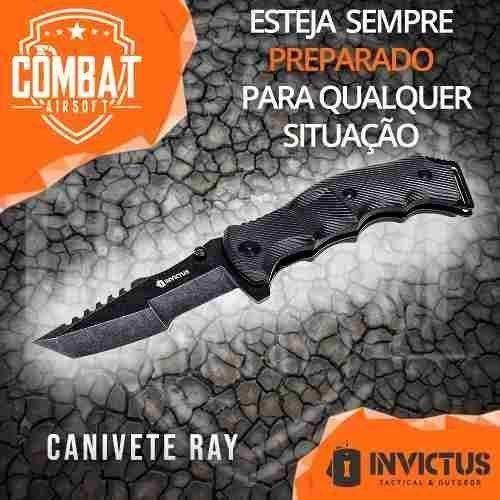 Canivete Invictus Ray Tático Militar Abertura Assistida