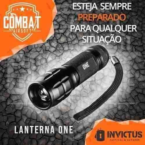 Lanterna Tática One Invictus  - Combat Airsoft