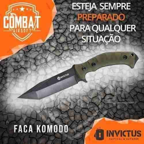 Faca Komodo Militar Tática Invictus